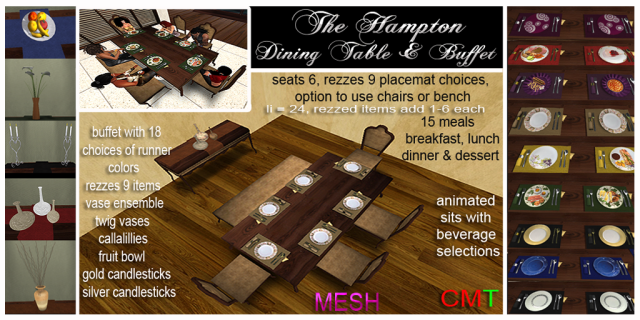 hampton dining table ad framed v2